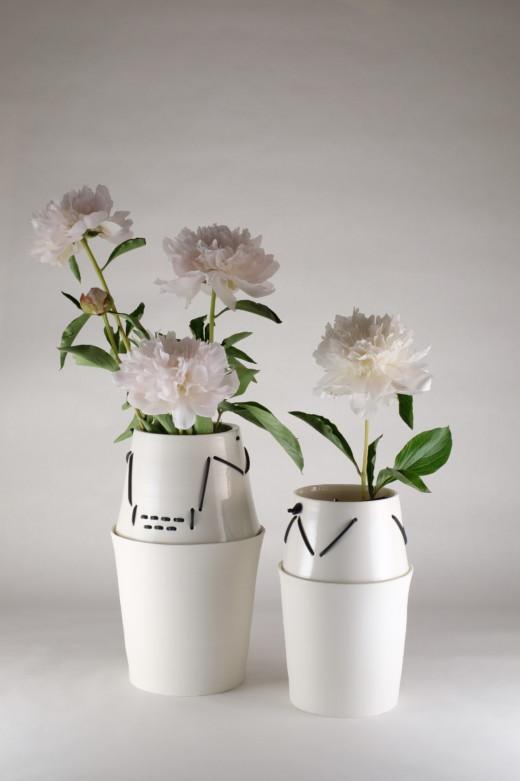 Vase pique-fleur Croisement - Clotilde Debain céramique